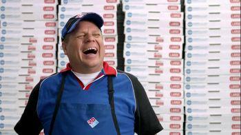 Domino's Large Two-Topping Pizza TV Spot, 'Fastest Box Folder' - Thumbnail 4