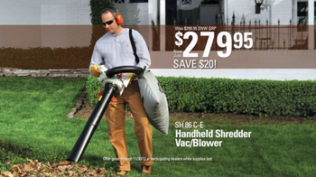 STIHL SH 86 C-E Shredder Vac/Blower TV Spot