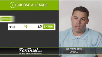 FanDuel Fantasy Football One-Week Leagues TV Spot, 'How to Play' - Thumbnail 4