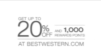 Best Western TV Spot, 'Up to 20% Off and 1000 Rewards Points' - Thumbnail 1