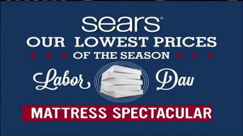 Sears Mattress Spectacular TV Spot, 'Lowest Prices of the Season' - Thumbnail 1