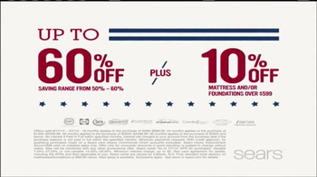Sears Mattress Spectacular TV Spot, 'Lowest Prices of the Season' - Thumbnail 4