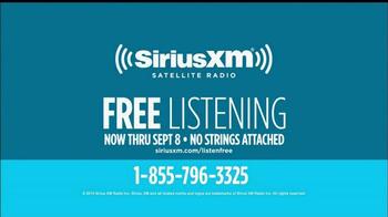 Sirius/XM Satellite Radio Free Listening Event TV Spot - Thumbnail 10
