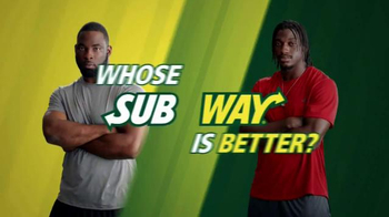 Subway TV Spot, 'No Challenge' Featuring Robert Griffin III, Justin Tuck - Thumbnail 1