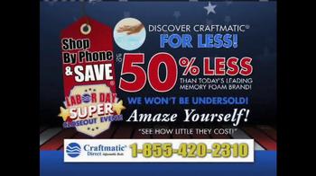 Craftmatic Labor Day Super Closeout Event TV Spot - Thumbnail 9