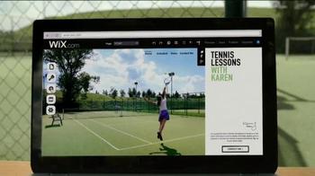 Wix.com TV Spot, 'Tennis Lessons with Karen' - Thumbnail 1