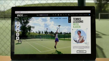 Wix.com TV Spot, 'Tennis Lessons with Karen' - 7921 commercial airings