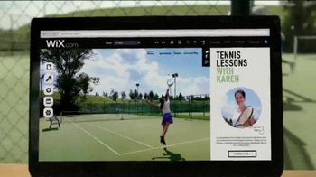 Wix.com TV Spot, 'Tennis Lessons with Karen' - Thumbnail 9