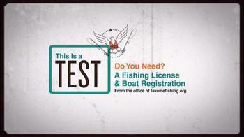 Take Me Fishing TV Spot, 'This is a Test' - Thumbnail 1