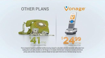 Vonage Unlimited Nationwide Calling TV Spot, 'Traditional Home Phone' - Thumbnail 3