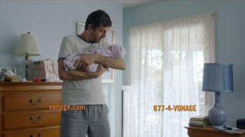 Vonage Unlimited Calling TV Spot, 'Bundle of Joy' - Thumbnail 3