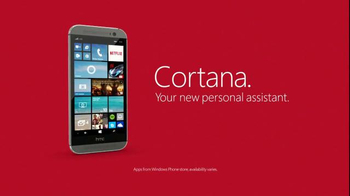 Microsoft Windows HTC One Phone TV Spot, 'Siri vs. Cortana: Mirror Mirror'  - Thumbnail 10