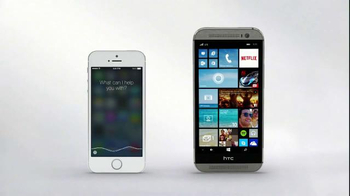 Microsoft Windows HTC One Phone TV Spot, 'Siri vs. Cortana: Mirror Mirror'  - Thumbnail 4