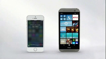 Microsoft Windows HTC One Phone TV Spot, 'Siri vs. Cortana: Mirror Mirror'  - Thumbnail 6