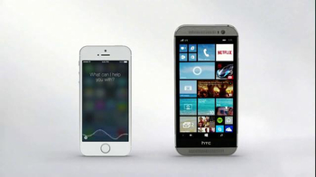 Microsoft Windows HTC One Phone TV Spot, 'Siri vs. Cortana: Mirror Mirror'  - Thumbnail 9
