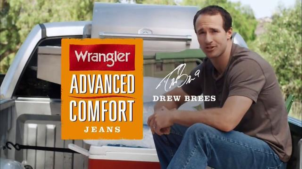 5f93ff63 Wrangler Advanced Comfort Jeans TV Commercial Featuring Drew Brees -  iSpot.tv