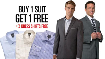 JoS. A. Bank TV Spot, 'September BOGO Suits + 3 Dress Shirts'