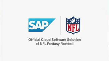 NFL Fantasy Football Player Comparison Tool TV Spot, 'Insights from SAP' - 4 commercial airings
