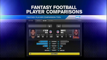 NFL Fantasy Football Player Comparison Tool TV Spot, 'Insights from SAP' - Thumbnail 1