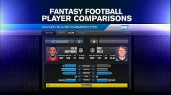 NFL Fantasy Football Player Comparison Tool TV Spot, 'Insights from SAP' - Thumbnail 5