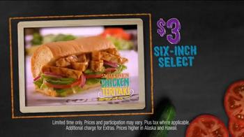 Subway Sweet Onion Chicken Teriyaki TV Spot, 'Subtember Celebration' - Thumbnail 4