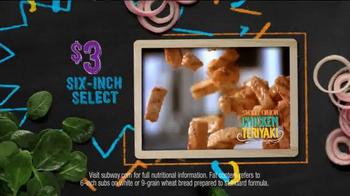 Subway Sweet Onion Chicken Teriyaki TV Spot, 'Subtember Celebration' - Thumbnail 6