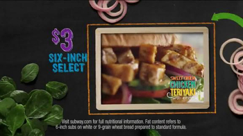 Subway Sweet Onion Chicken Teriyaki TV Spot, 'Subtember Celebration' - Thumbnail 7