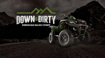 Suzuki Down & Dirty KingQuad Sales Event TV Spot, 'Hurry In'