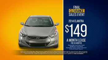 Hyundai Final Clearance Sales Event TV Spot, 'All 2014s' - Thumbnail 6