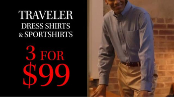 JoS. A. Bank TV Spot, 'October: 3 for $99 Traveler Shirts' - Thumbnail 3