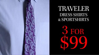 JoS. A. Bank TV Spot, 'October: 3 for $99 Traveler Shirts' - Thumbnail 4