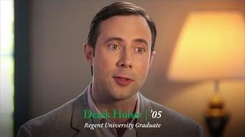 Regent University TV Spot, 'Derek Holser' - Thumbnail 3