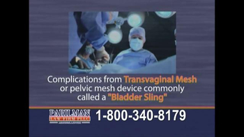 Parilman & Associates TV Spot, 'Transvaginal Mesh: Call Today' - Thumbnail 5