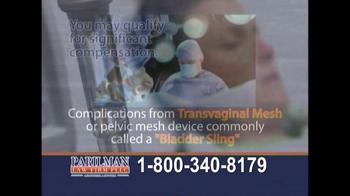 Parilman & Associates TV Spot, 'Transvaginal Mesh: Call Today' - Thumbnail 6