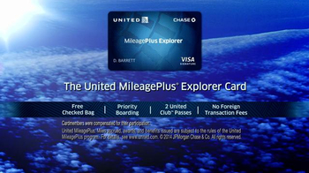 Chase United Mileage Plus Explorer TV Spot - Thumbnail 9