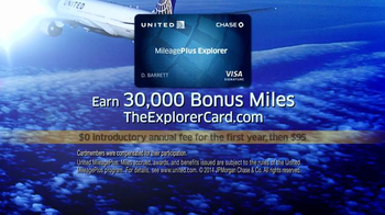 Chase United Mileage Plus Explorer TV Spot - Thumbnail 8