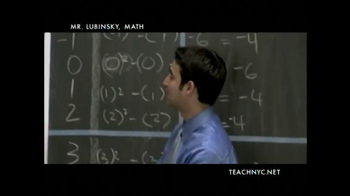 Teach NYC TV Spot, 'Mr. Lubinsky, Math' - Thumbnail 5