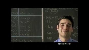 Teach NYC TV Spot, 'Mr. Lubinsky, Math' - Thumbnail 7