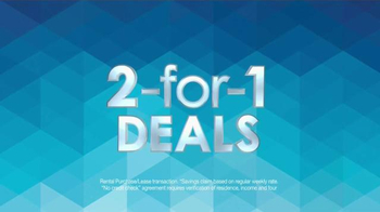 Rent-A-Center 2 For 1 Deals TV Spot, 'Double The Savings' - Thumbnail 3