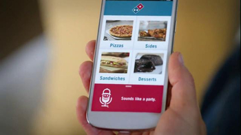 Domino's Voice Ordering App TV Spot, 'Party' - Thumbnail 2