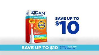 Zicam TV Spot, 'Hit It Hard' - Thumbnail 4