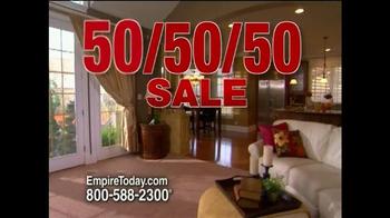 Empire Today 50/50/50 Sale TV Spot, 'Biggest Sale' - Thumbnail 2