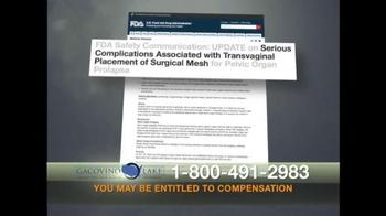 Gacovino Lake TV Spot, 'Transvaginal Mesh Implant' - Thumbnail 3