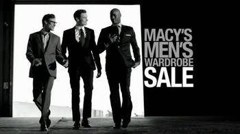 Macy's Men's Wardrobe Sale TV Spot, 'Suits from your Favorite Designers' - 162 commercial airings