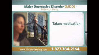 Sirius MDD Study TV Spot - Thumbnail 1
