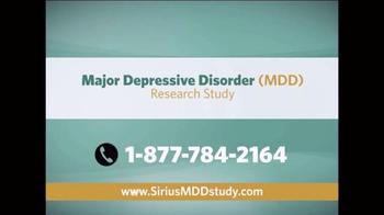 Sirius MDD Study TV Spot - Thumbnail 10