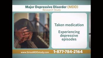 Sirius MDD Study TV Spot - Thumbnail 2