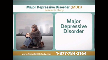 Sirius MDD Study TV Spot - Thumbnail 3