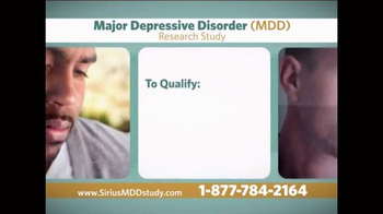 Sirius MDD Study TV Spot - Thumbnail 5