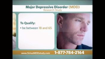 Sirius MDD Study TV Spot - Thumbnail 6